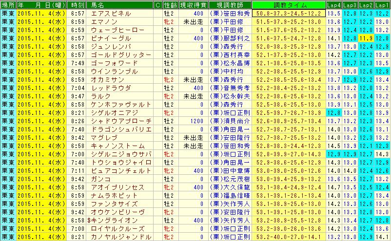 11月4日坂路